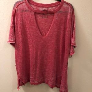 NWT Free People burnout style t shirt